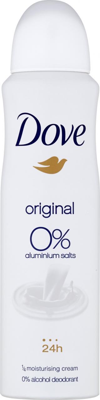 DOVE Alu-free Deo spray Original for Women 150 ml bílá