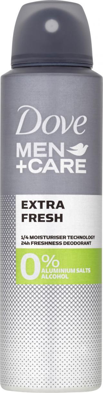 DOVE Alu-free Men   Care Deo spray Extra fresh 150 ml šedá
