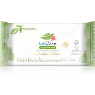 Dove Baby Biodegradable Wipes dětské jemné vlhčené ubrousky 75 ks 75 ks