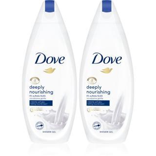 Dove Deeply Nourishing vyživující sprchový gel  dámské 2x250 ml