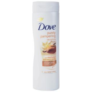 Dove Purely Pampering Shea Butter vyživující tělové mléko bambucké máslo a vanilka 400 ml dámské 400 ml