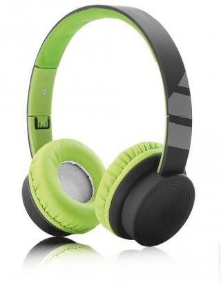 Drátová sluchátka ALIGATOR AH03, černo/zelená