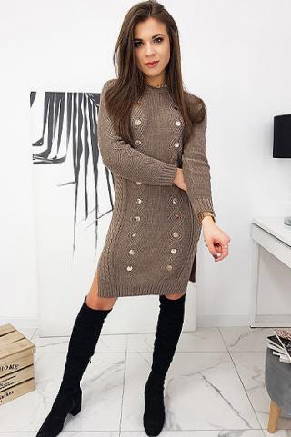Dress ALETA mocca EY1422 dámské Neurčeno One size