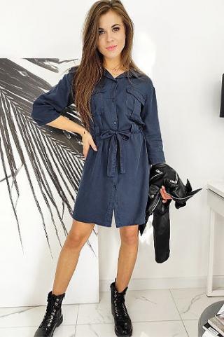 Dress HANNAH navy blue EY0769 dámské Neurčeno One size