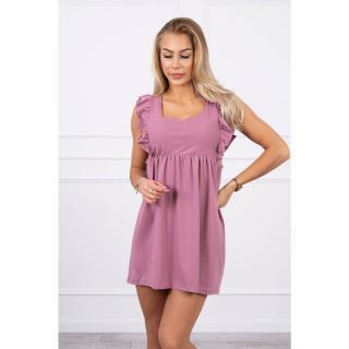 Dress with frills on the sides dark pink dámské Neurčeno One size
