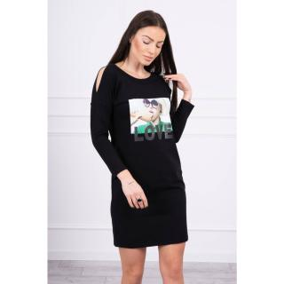 Dress with Love print black dámské Neurčeno One size