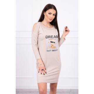 Dress with print Dream beige dámské Neurčeno One size