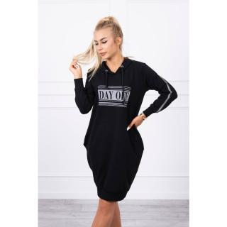 Dress with reflective print black dámské Neurčeno One size