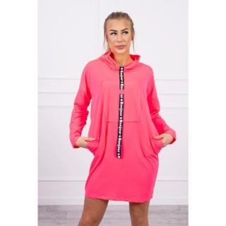 Dress with tie pink neon dámské Neurčeno One size