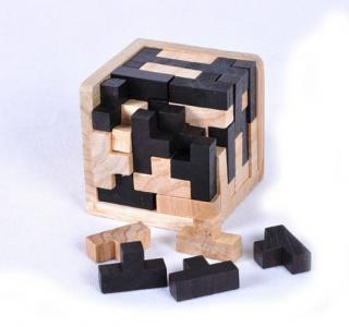 Dřevěné 3D vzdělávací puzzle - Hlavolamy Varianta: 3