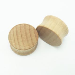 Dřevěné plugy - 5 barev Průměr tunelů: 10 mm, Barvy: světle hnědá