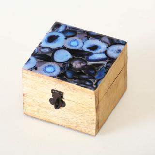 Dřevěný box achát