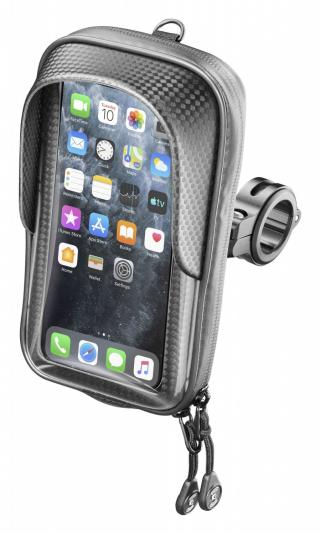Držák na mobilní telefony Interphone Master s úchytem na řídítka max. 5.8, černý