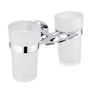 Držák skleničky a kartáčků Nimco Unixvčetně skleničky chrom UN 13057DW-26 chrom Chrom