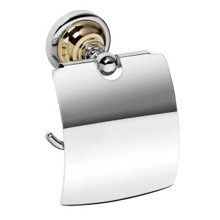 Držák toal.papíru Bemeta RETRO - gold a chroms krytem chrom/zlatá 144212018 ostatní chrom
