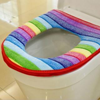 Duhový potah na záchodové prkénko Barva: červená
