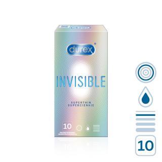 DUREX Invisible 10 ks mix barev