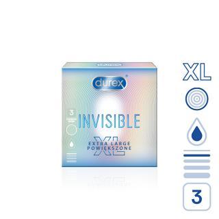 Durex Kondomy Invisible XL 3 ks
