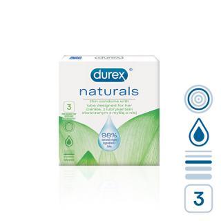 Durex Kondomy Naturals 3 ks