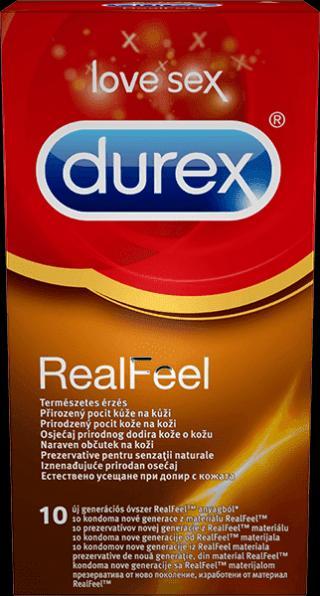 DUREX Real Feel  - kondomy červená