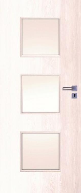 Dveře KANO30 60, B.BOR,pravé WC dřevodekor borovice bílá