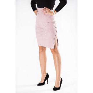 Eco-suede pencil skirt with a zipper on the side dámské Neurčeno XL