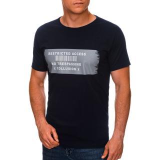 Edoti Mens printed t-shirt S1465 pánské Navy M