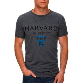 Edoti Mens printed t-shirt S1467 pánské DARK GREY M
