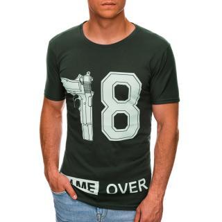 Edoti Mens printed t-shirt S1478 pánské Green M