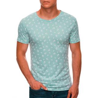 Edoti Mens printed t-shirt S1480 pánské Mint M
