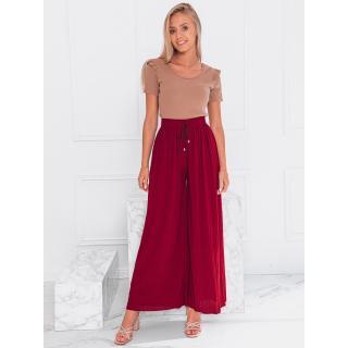 Edoti Womens culotte trousers PLR085 dámské Red L