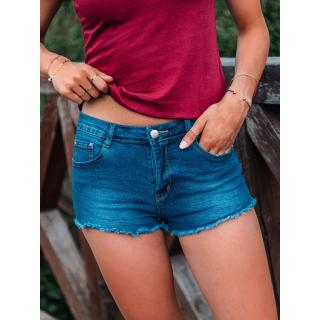 Edoti Womens denim shorts WLR014 dámské Blue 25