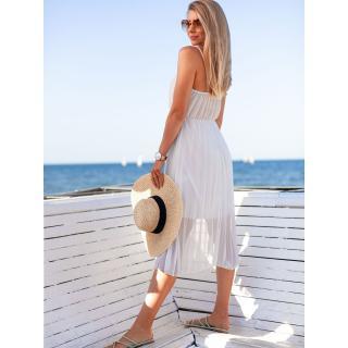Edoti Womens dress DLR023 dámské White One size