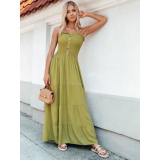 Edoti Womens dress DLR035 dámské Green One size