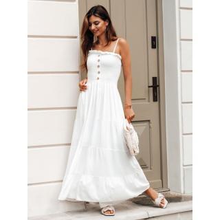 Edoti Womens dress DLR035 dámské White One size