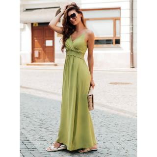 Edoti Womens dress DLR036 dámské Green One size