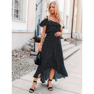 Edoti Womens dress DLR037 dámské Black M