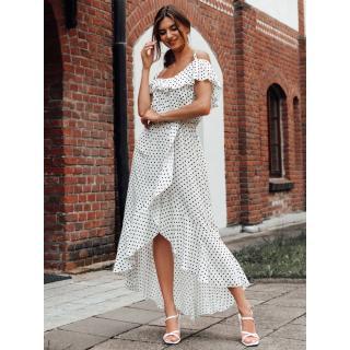 Edoti Womens dress DLR037 dámské White M