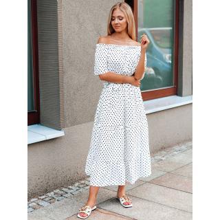 Edoti Womens dress DLR038 dámské White M