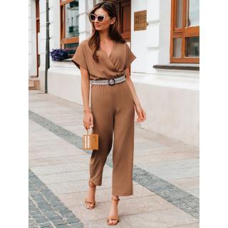 Edoti Womens jumpsuit ZLR014 dámské Brown One size