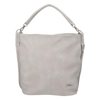 Elegantní dámská kabelka přes rameno krémově šedá - Ellis Negina dámské