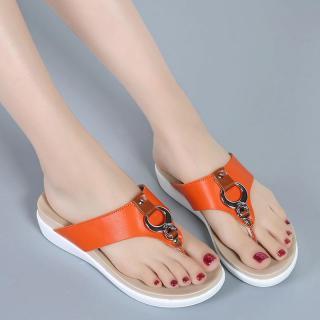 Elegantní dámské žabky Reffo - oranžové
