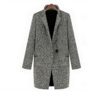 Elegantní zimní kabát pro ženy z bavlny - zimní kabáty pro ženy