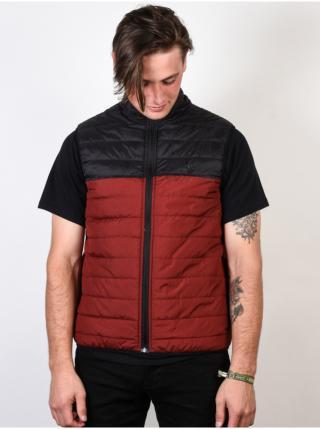Element PUFF VEST SYRAH HEATHER podzimní bunda pro muže - červená pánské M