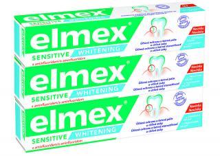 Elmex Bělicí zubní pasta pro citlivé zuby Sensitive Whitening 3 x 75 ml