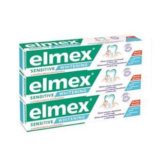 Elmex Bělicí zubní pasta pro citlivé zuby Sensitive Whitening Trio 3x 75 ml