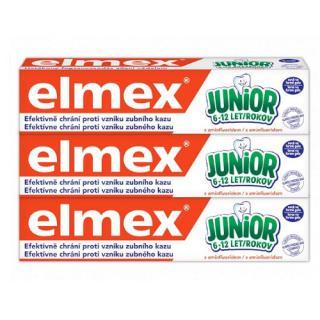 Elmex Dětská zubní pasta Junior Trio 3 x 75 ml