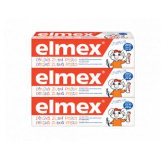 Elmex Dětská zubní pasta Kids Trio 3 x 50 ml