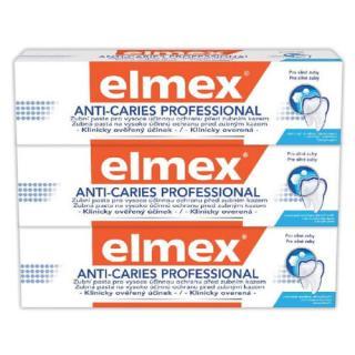 Elmex Zubní pasta Anti Caries Professional Trio 3 x 75 ml