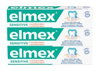 Elmex Zubní pasta pro citlivé zuby Sensitive 3 x 75 ml